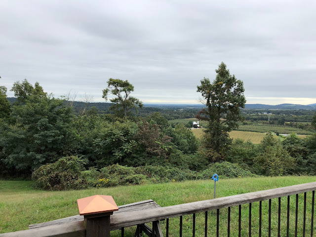 View off the deck at Hauser Estates Winery in Adams County Pennsylvania