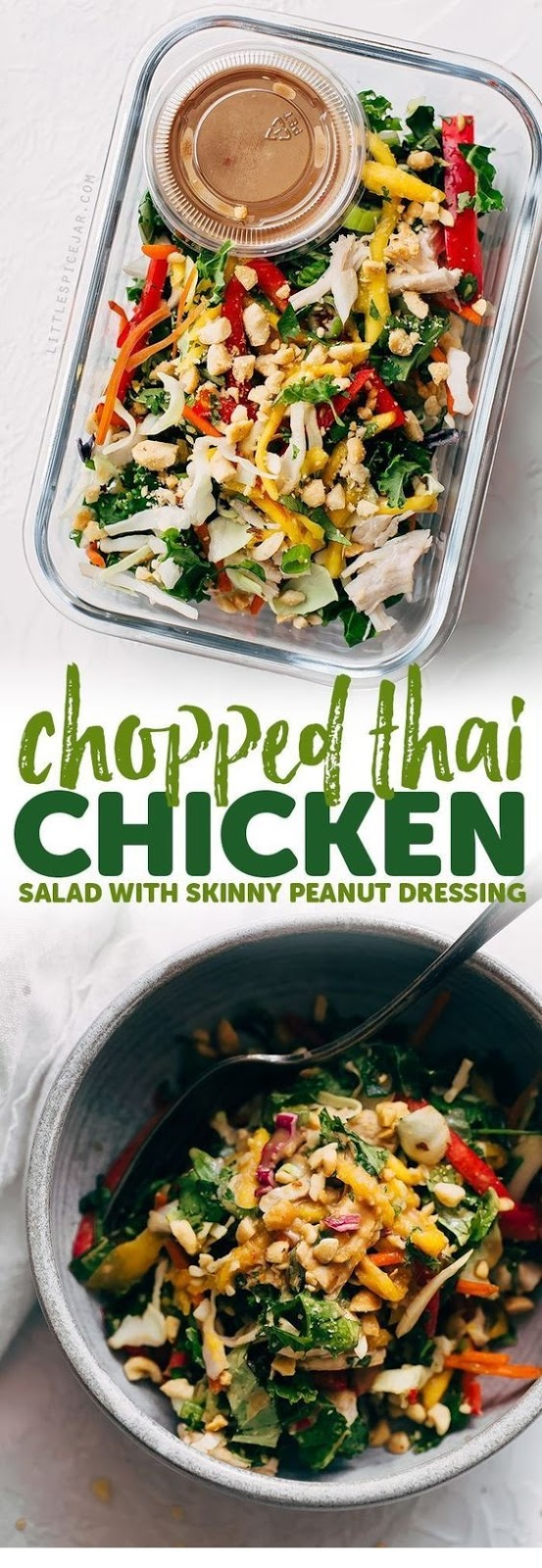 Chopped Thai Chicken Salad With Skinny Peanut Dressing