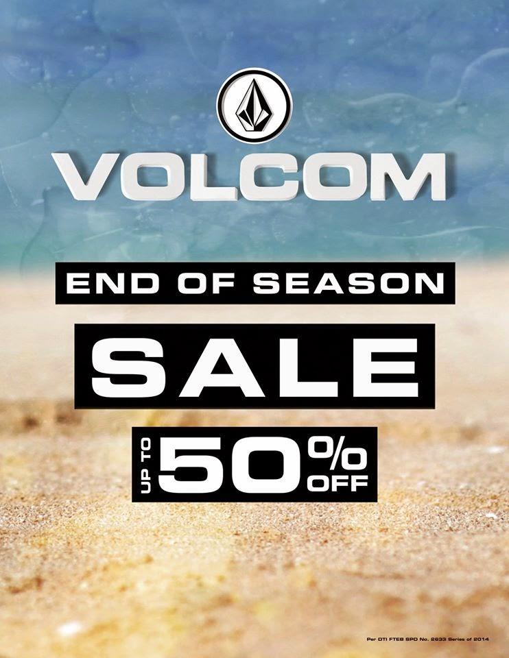 manila shopper volcom end of season sale sept 2014