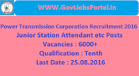 Power Transmission Corporation Recruitment 2016