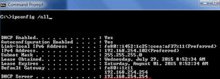 Command Prompt Modem IP