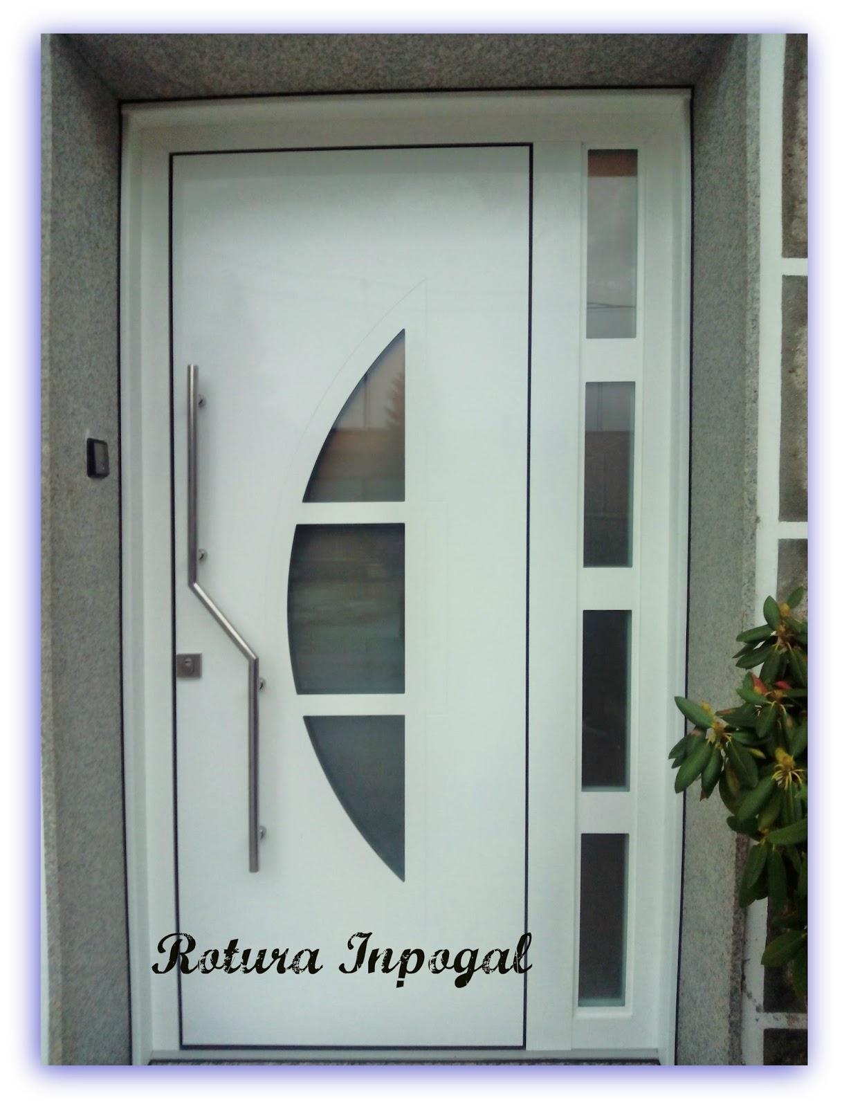 Puertas aluminio inpogal for Puertas y ventanas de aluminio blanco precios