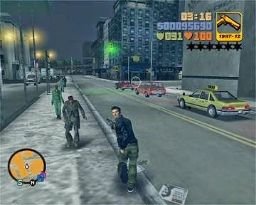 Night time at GTA 3