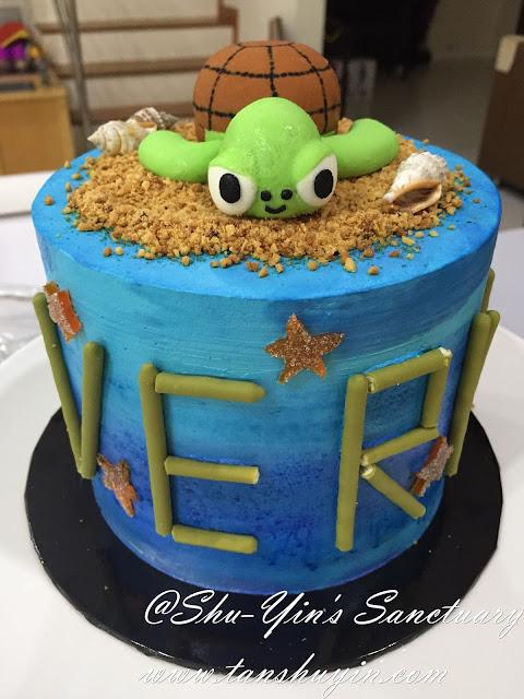 Shu Yins Sanctuary Verns 2nd Sea Turtle Birthday Cake