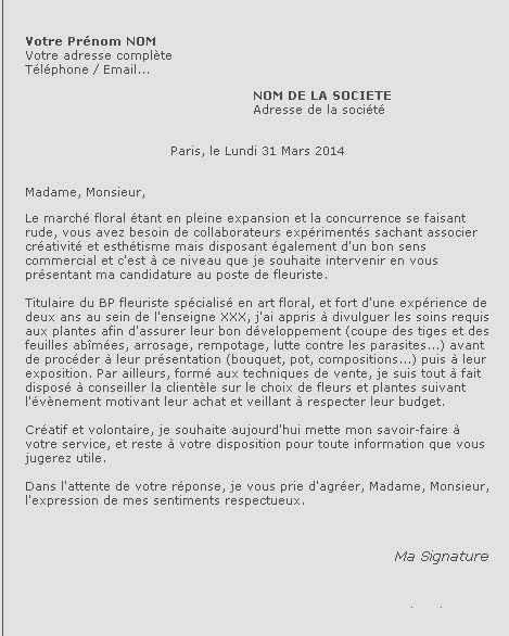 Exemple de lettre de motivation Lettres de Motivation Le Parisien