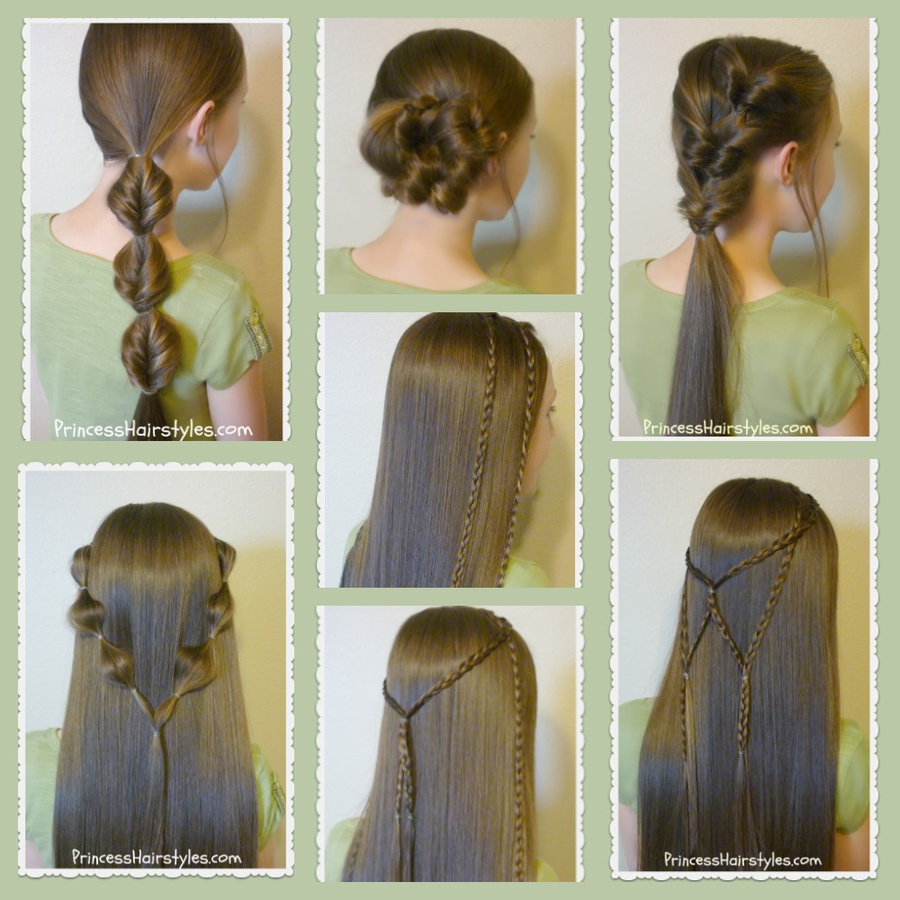 7 Quick  Easy Hairstyles Part 2  Hairstyles For Girls