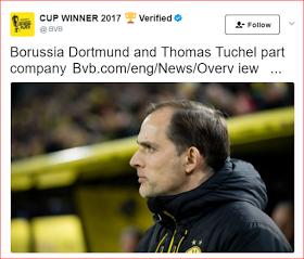 Days After Winning German cup, Dortmund Sacks Coach Thomas Tuchel