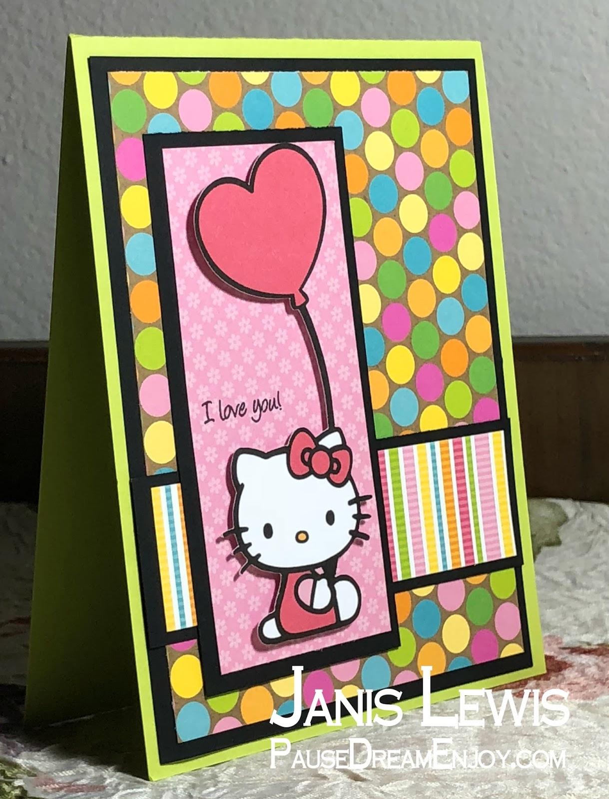 Pause dream enjoy bbtb2 cricut cartridge sanrio hello kitty greetings cardz tv stamps mini messages m4hsunfo