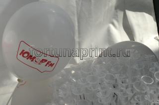Воздушные шары с логотипом на рекламной раздаче