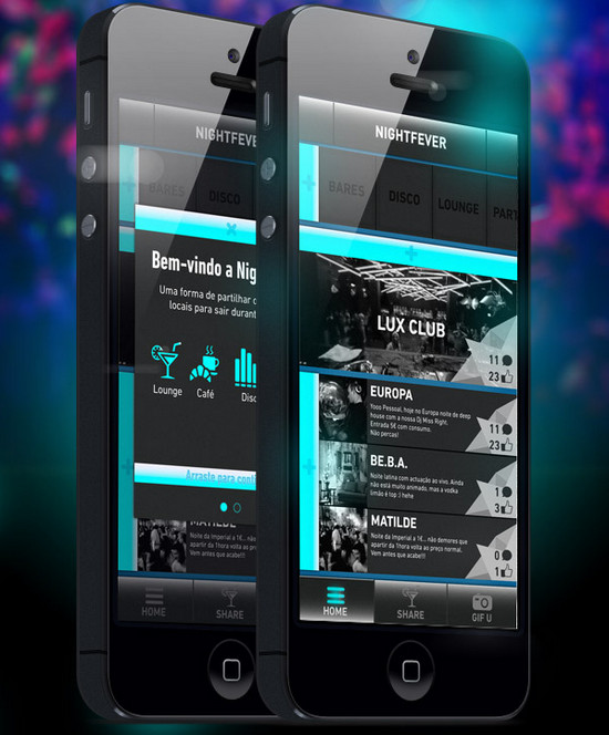 Night Fever iphone App for music