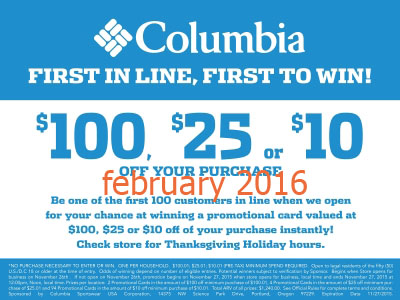 columbia in store coupons printable