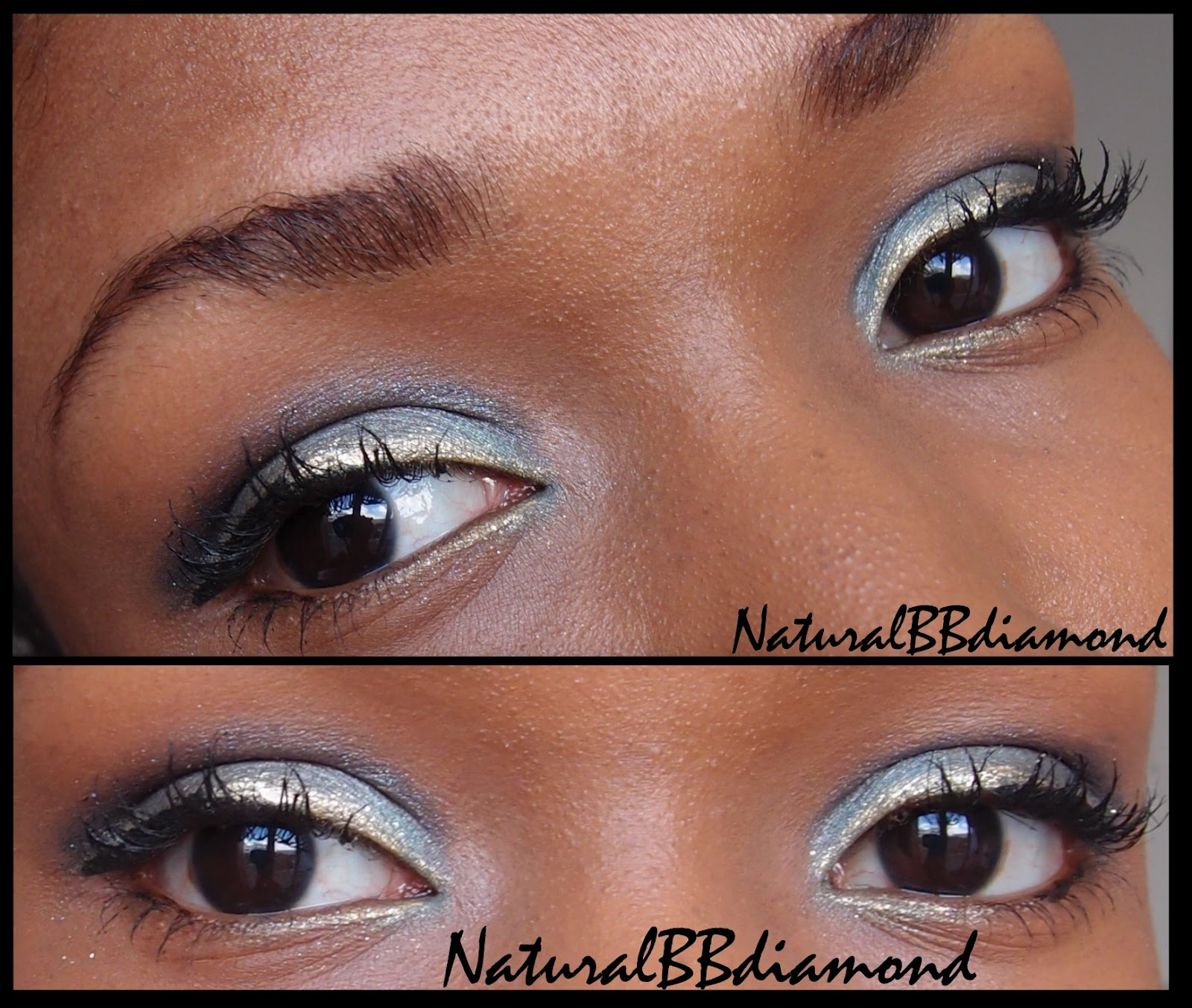 maquillage des yeux bleu turquoise indigo dor. Black Bedroom Furniture Sets. Home Design Ideas
