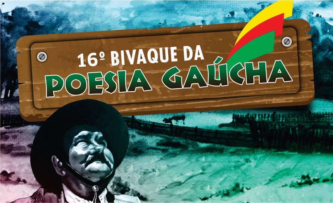 Estão abertas as inscrições para o 16º Bivaque da Poesia Gaúcha