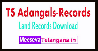 Telangana-TS-Grama Adangals Pahani-Land Records గ్రామ పహాణి Adangals-Records Free-Download mabhoomi