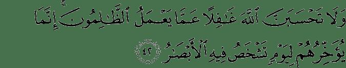 Surat Ibrahim Ayat 42