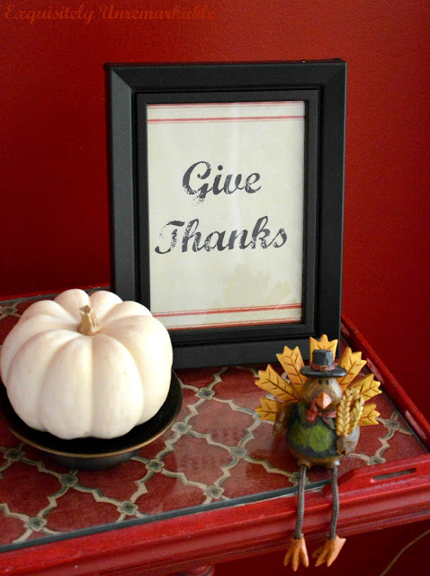 Give Thanks Fall Printable Framed Decor