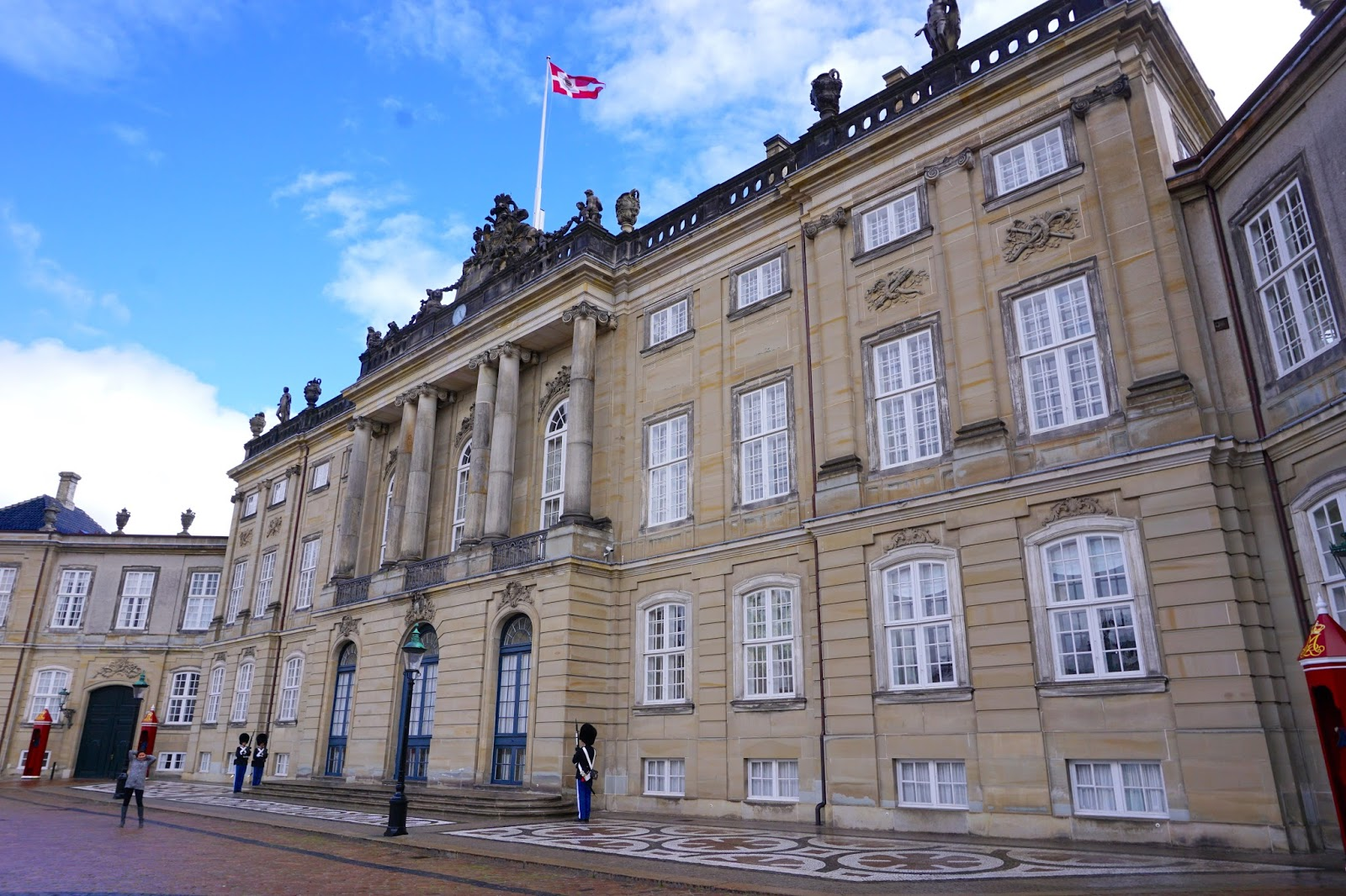 Guards outside of Amalienborg Palace in Copenhagen