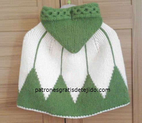 Capa Tejida con Dos Agujas / Paso a paso | Crochet y Dos agujas ...