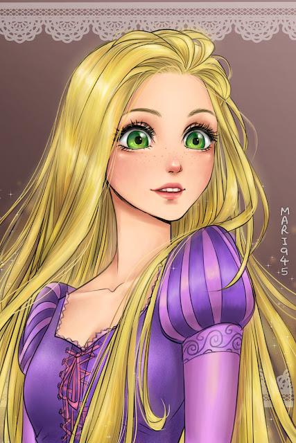 Princesas de Disney en su versión anime