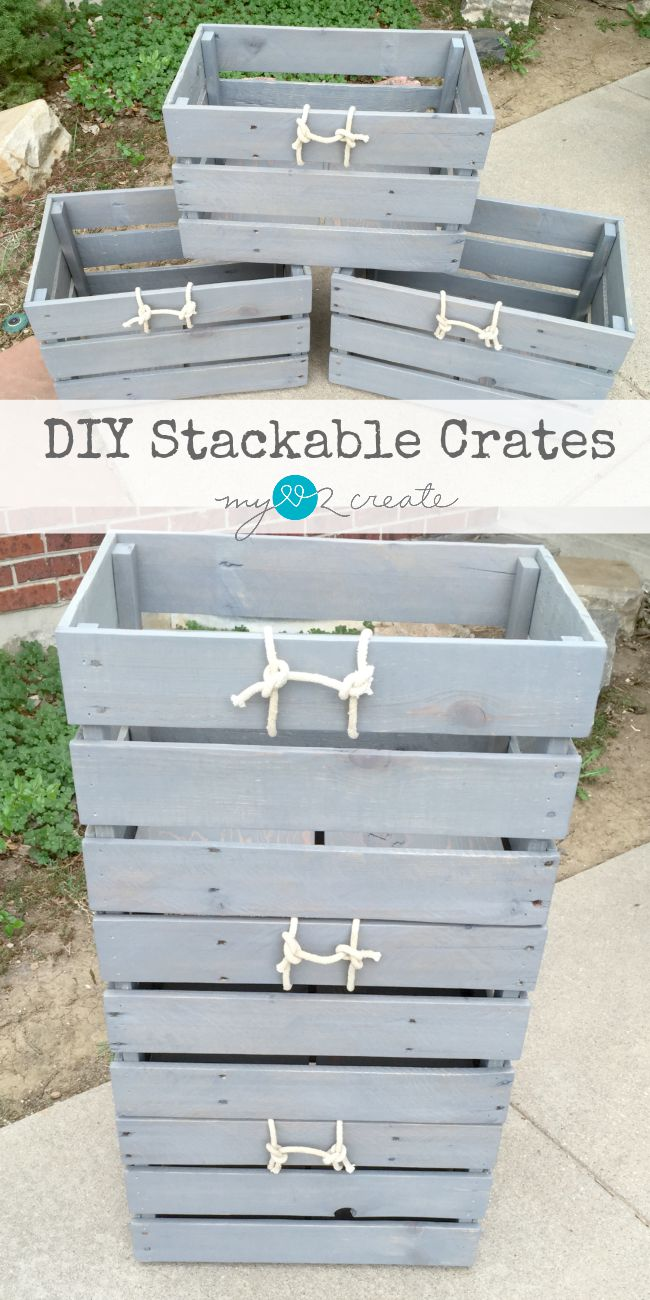 Two easy steps to build stackable crates, MyLove2Create