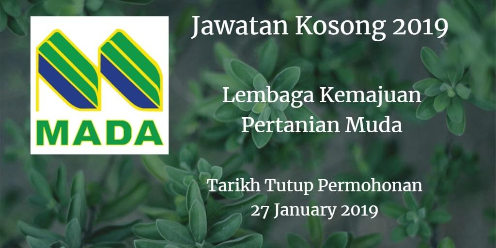 Jawatan Kosong MADA 27 January 2019