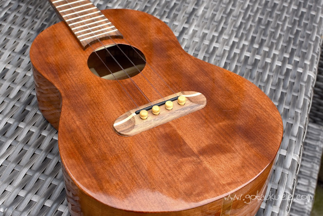 Chris Perkins Tenor Ukulele top