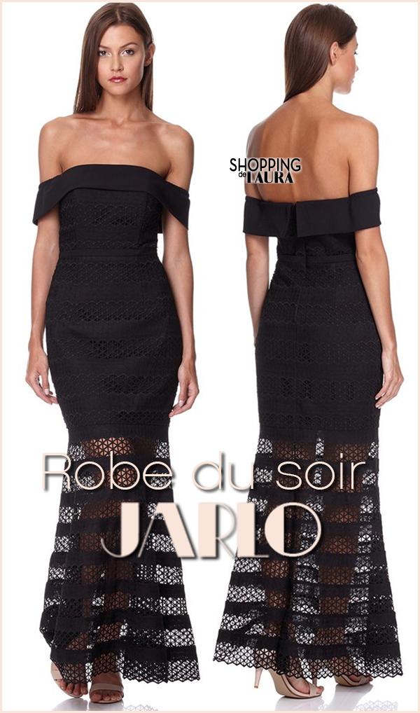 Robe de soirée noire JARLO forme sirène