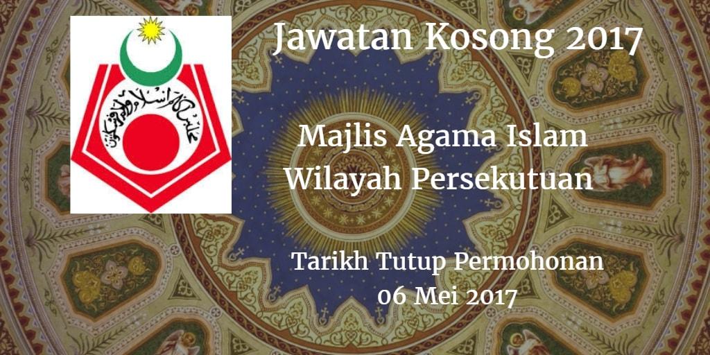 Jawatan Kosong MAIWP 06 Mei 2017