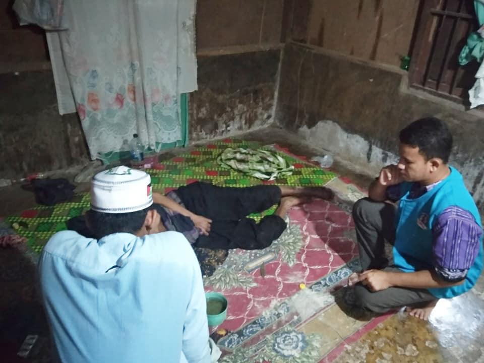 Penderita Sakit Kronis Hidup Sebatangkara, di Kunjungi Relawan Lembaga Peduli Dhuafa, Aceh Utara