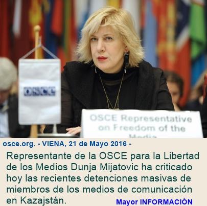 Representante de la OSCE pide la liberación inmediata de todos los miembros de los medios de comuni