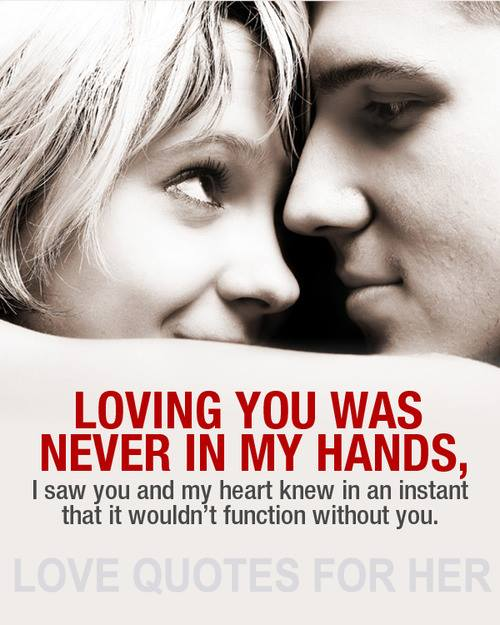 Loving You Was Never In My Hands
