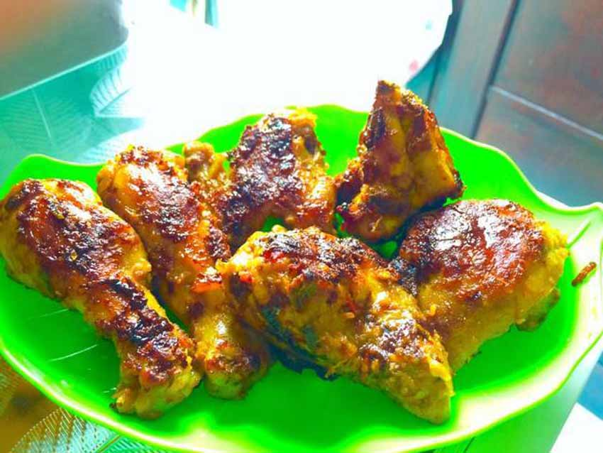 Resep Ayam Bakar Bumbu Kare Pedas