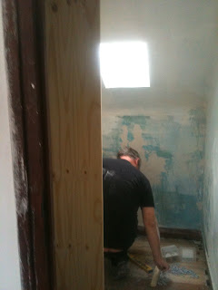 removing an old bathroom and making good in a renovation project