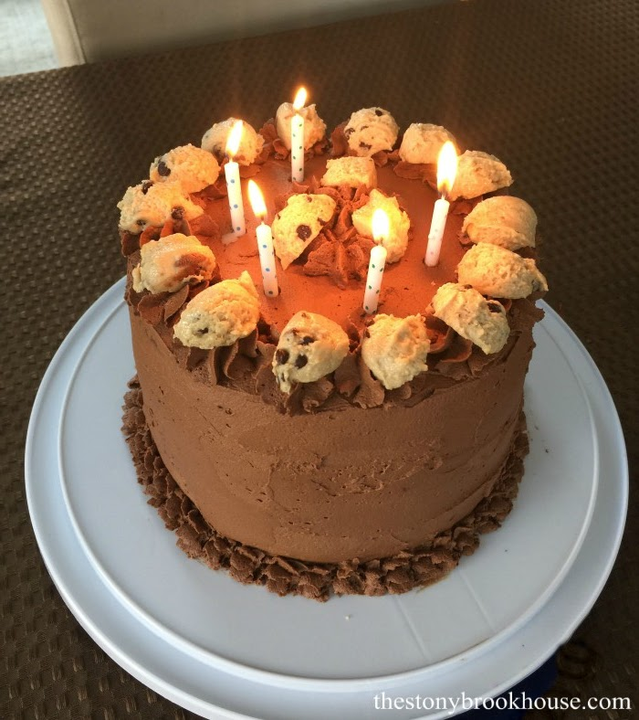 Chocolate Chip Cookie Dough Birthday Cake