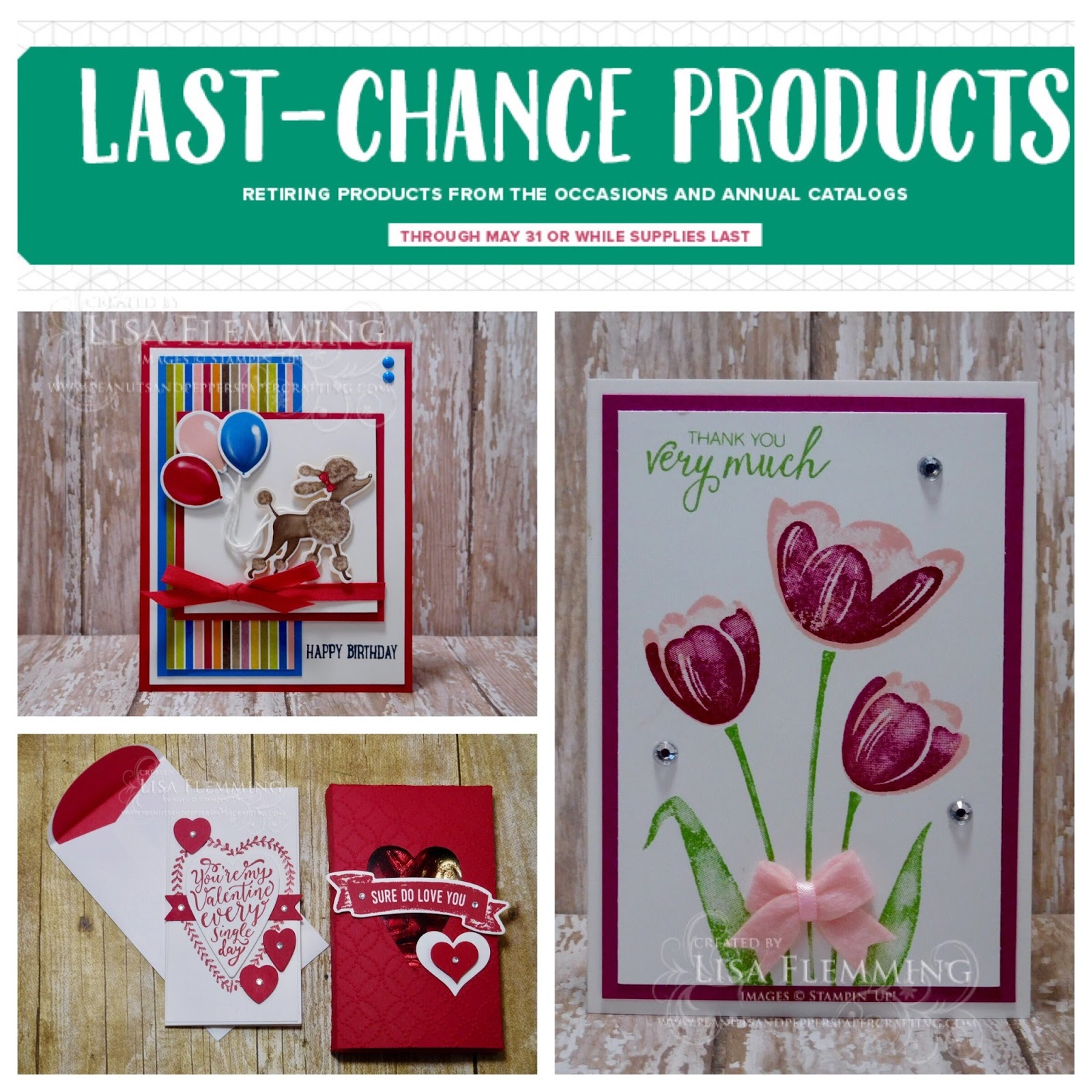 What's Up! Wednesday - Last Chance Products (Get Them While