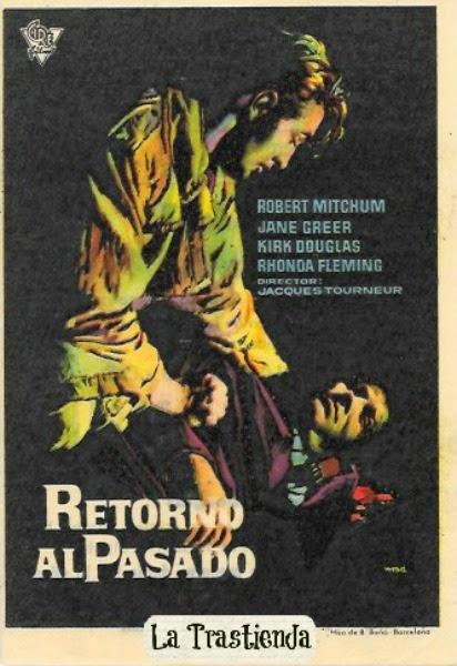 Retorno al Pasado - Programa de mano - Robert Mitchum - Jane Greer - Kirk Douglas