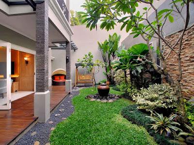 taman rumah minimalis  populer