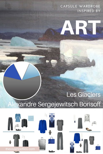 Build a Travel Capsule Wardrobe by Starting with Art: Les Glaciers by Alexandre Sergejewitsch Borisoff