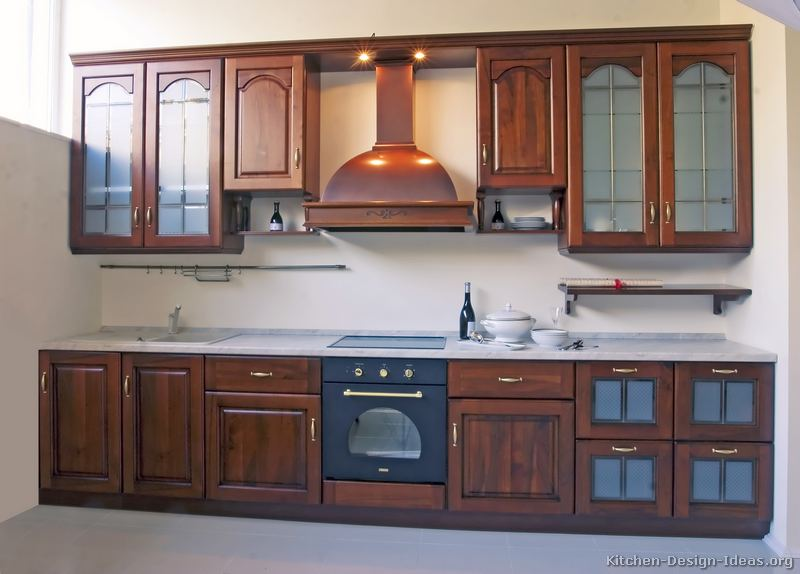 New home designs latest modern kitchen cabinets designs for Black kitchen cabinet design ideas