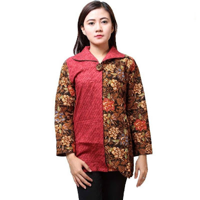 Desain Baju Batik Modern Terkini