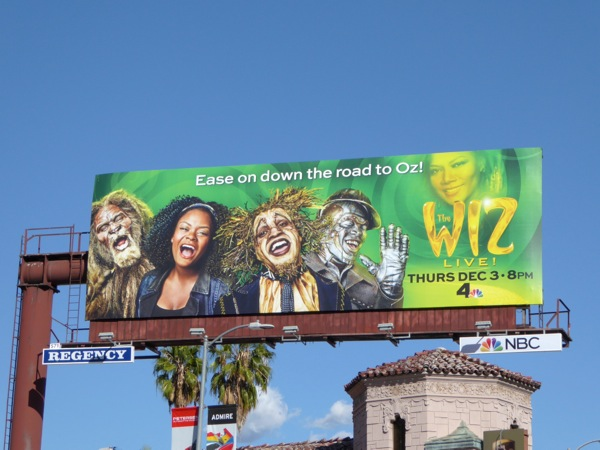 The Wiz Live! TV billboard