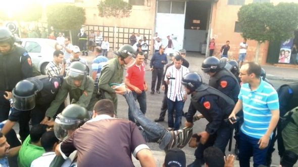 Moroccan forces violently crack down on protesters in occupied al-Ayun