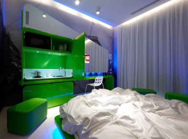 Dormitorios alucinantes futuristas con papel mural en - Murales para dormitorios ...