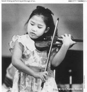 Sarah Chang at the age of 6 (Photo courtesy of Sarah Chang)