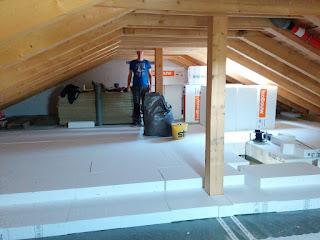 Randdammstreifen Styropor Auslegen Dachboden Isolieren Projekt
