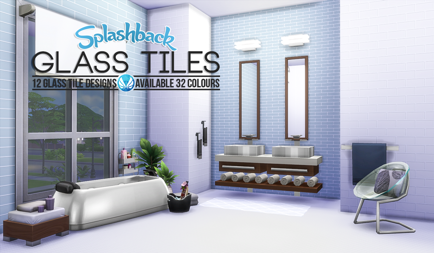 My Sims 4 Blog Splashback Glass Tiles By Peacemaker Ic