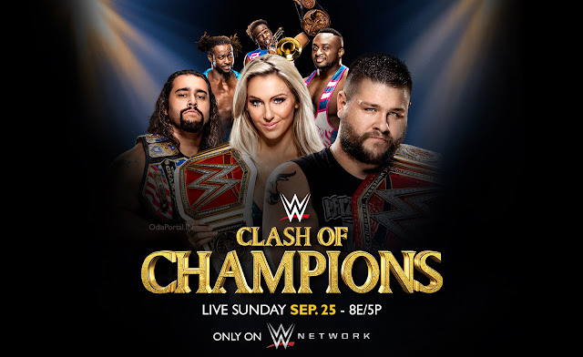 "WWE ""Clash of Champions 2016"" - Download HQ Official Wallpaper. Feat: Rusev, Kevin Owens, Charlotte, New Days. Download HQ HD Wallpaper."
