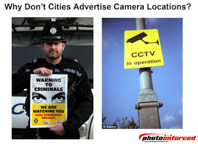 why don't cities advertise camera locations