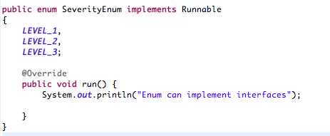 Enum interface example