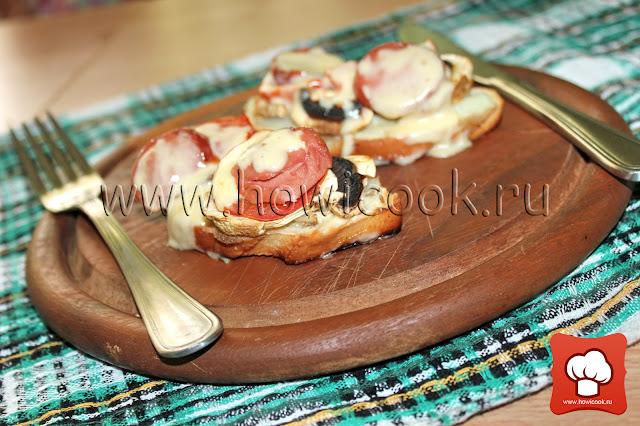 Рецепт - как приготовить горячие бутерброды